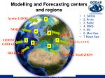 modelling and forecasting centers and regions