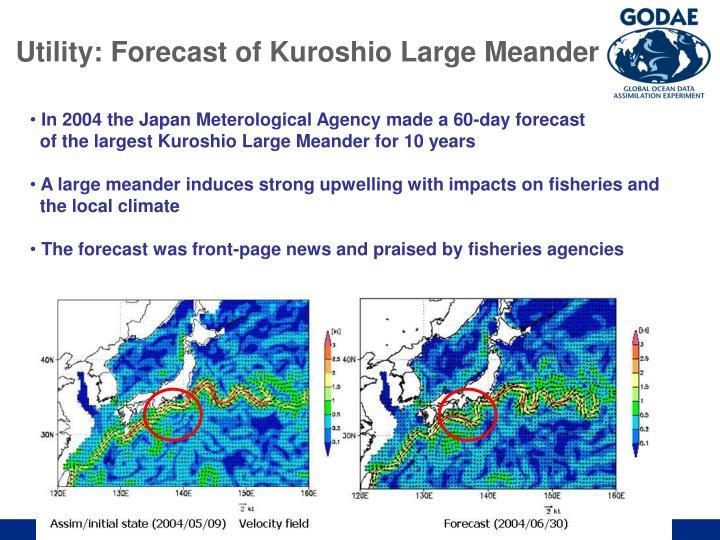 Utility: Forecast of Kuroshio Large Meander