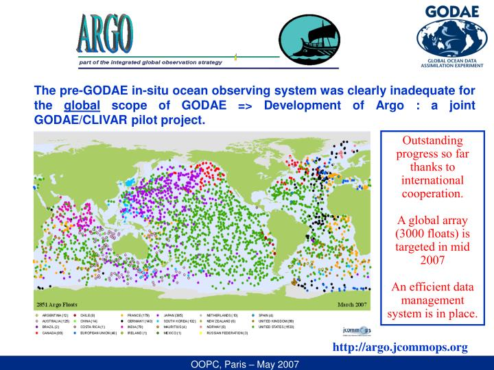 The pre-GODAE in-situ ocean observing system was clearly inadequate for the