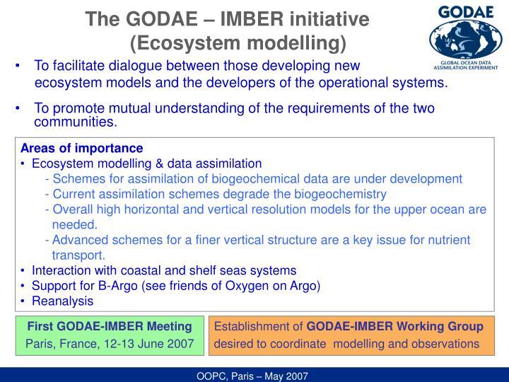 The GODAE – IMBER initiative
