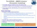 the godae imber initiative ecosystem modelling