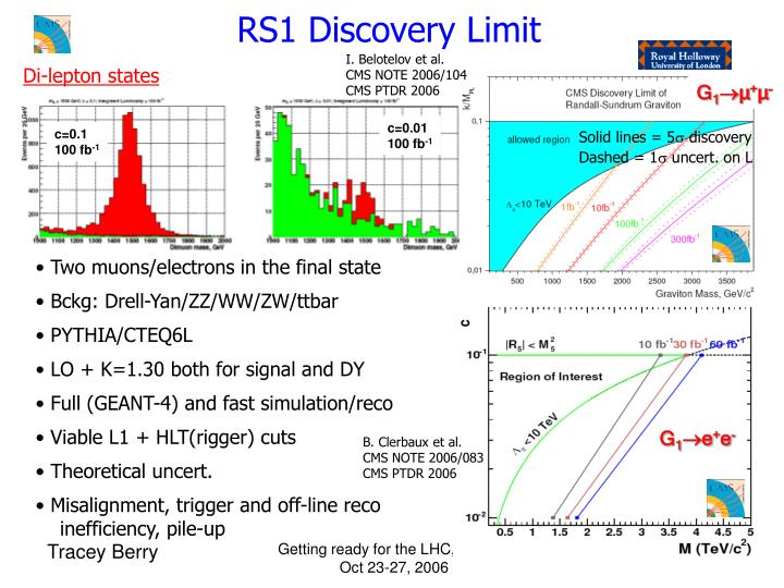RS1 Discovery Limit