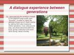 a dialogue experience between generations2