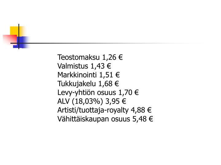 Teostomaksu 1,26 €