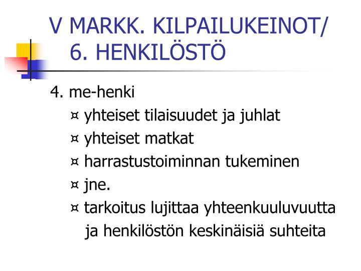 V MARKK. KILPAILUKEINOT/