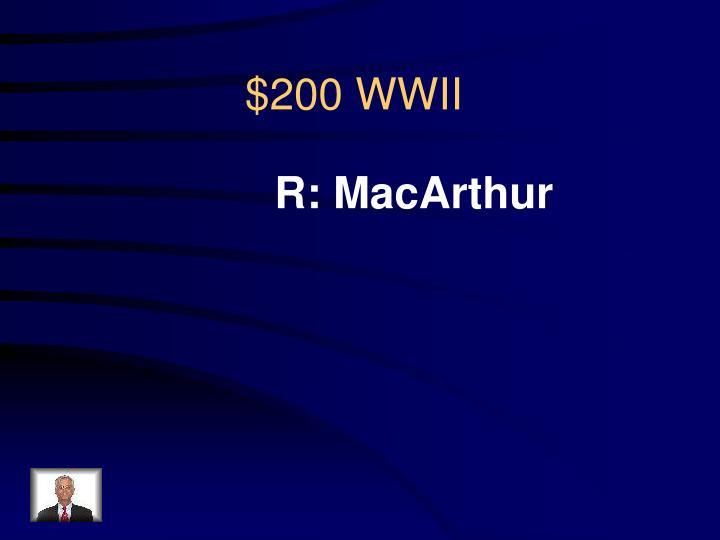 R: MacArthur