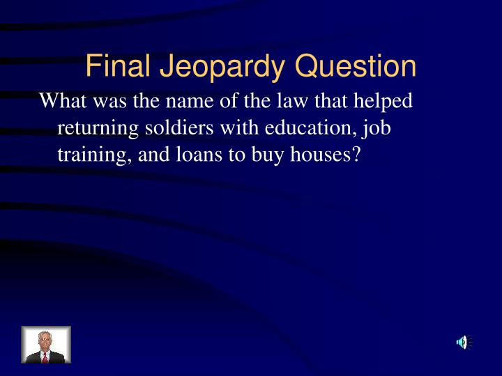What was the name of the law that helped returning soldiers with education, job training, and loans to buy houses?