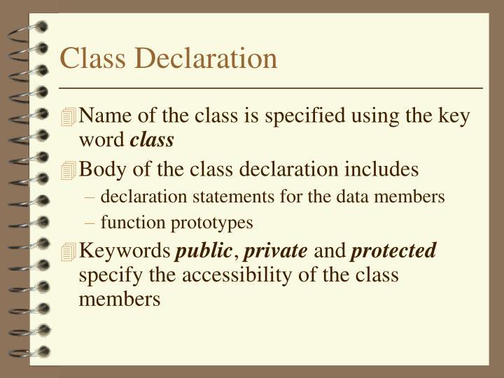 Class Declaration