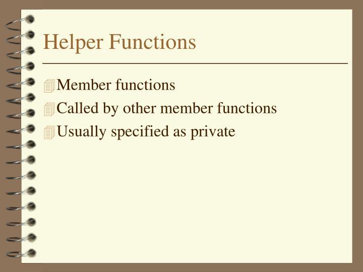 Helper Functions