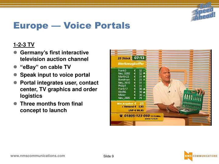 Europe — Voice Portals