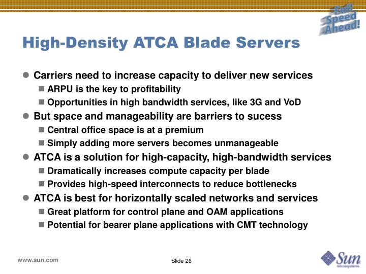 High-Density ATCA Blade Servers