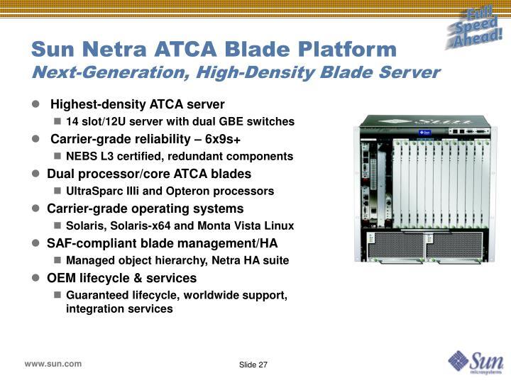 Sun Netra ATCA Blade Platform