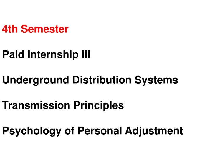 4th Semester