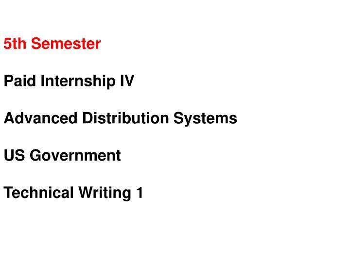 5th Semester