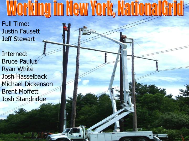 Working in New York, NationalGrid