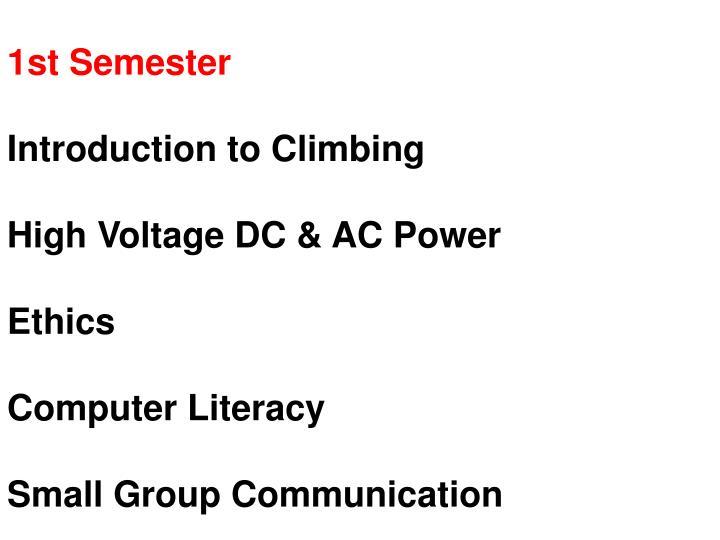 1st Semester