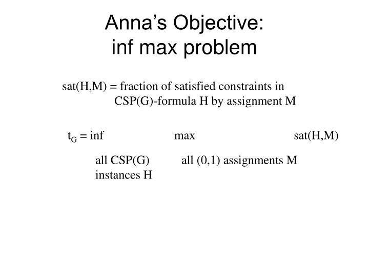 Anna's Objective: