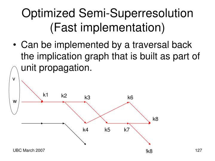 Optimized Semi-Superresolution