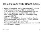 results from 2007 benchmarks