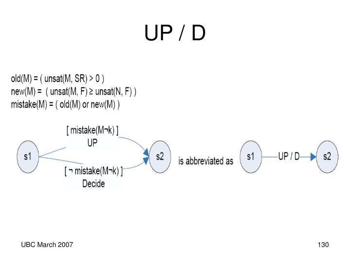 UP / D