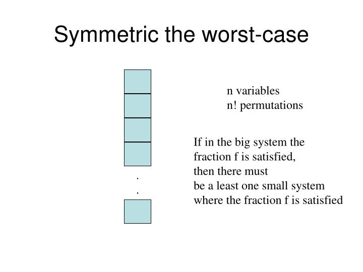 Symmetric the worst-case