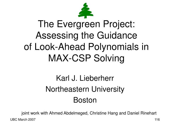 The Evergreen Project: