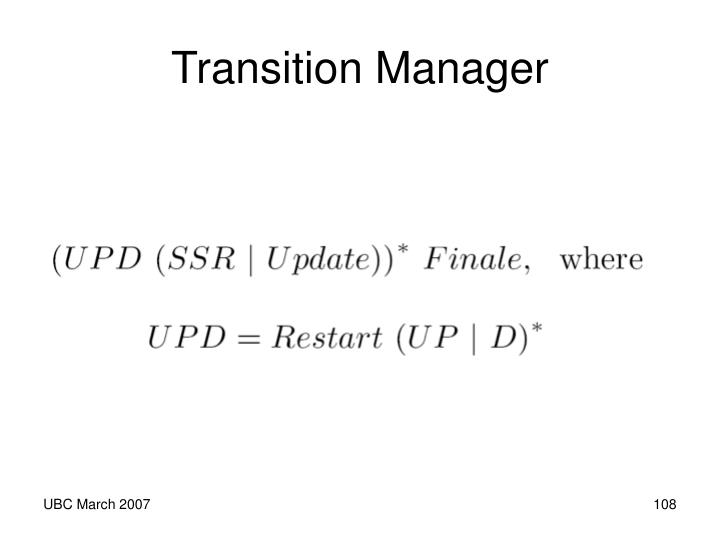 Transition Manager
