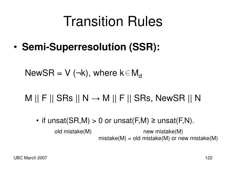 Transition Rules