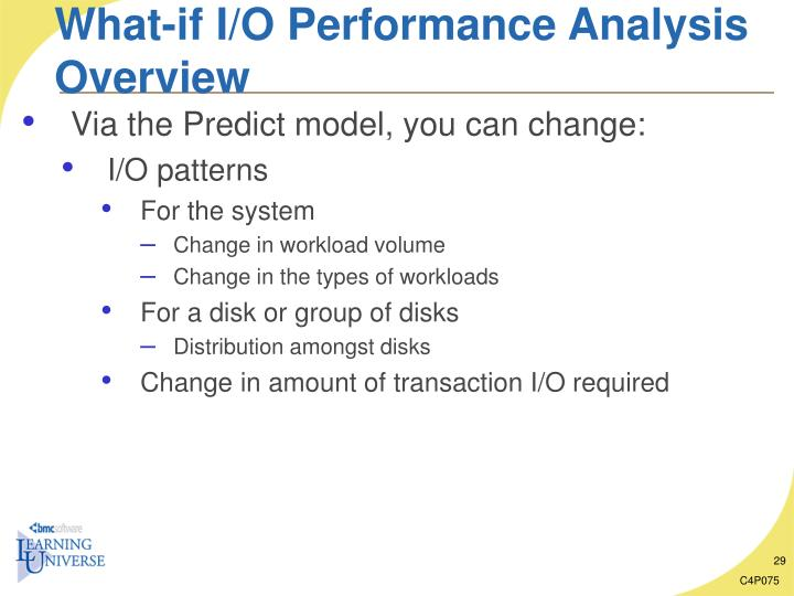 What-if I/O Performance Analysis Overview