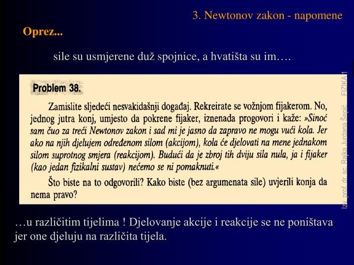 3. Newtonov zakon - napomene