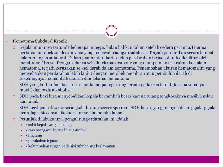 Hematoma Subdural Kronik
