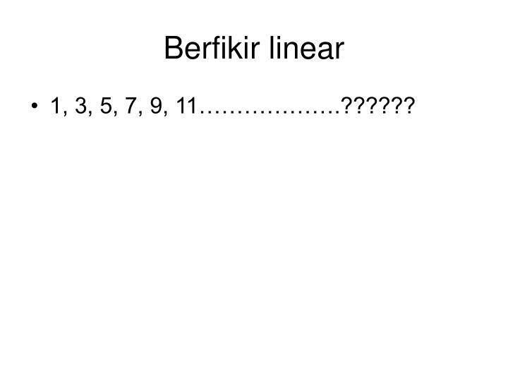 Berfikir linear