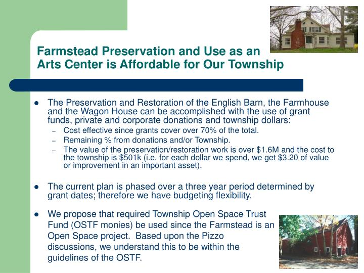 Farmstead Preservation and Use as an