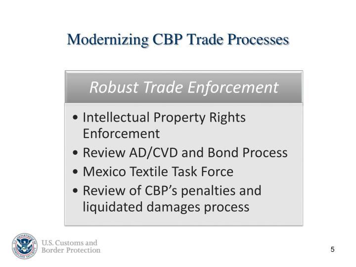 Modernizing CBP Trade Processes