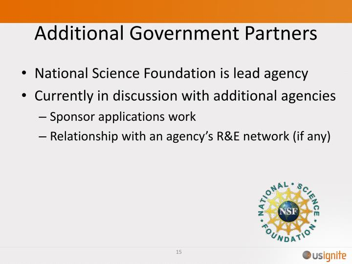 Additional Government Partners
