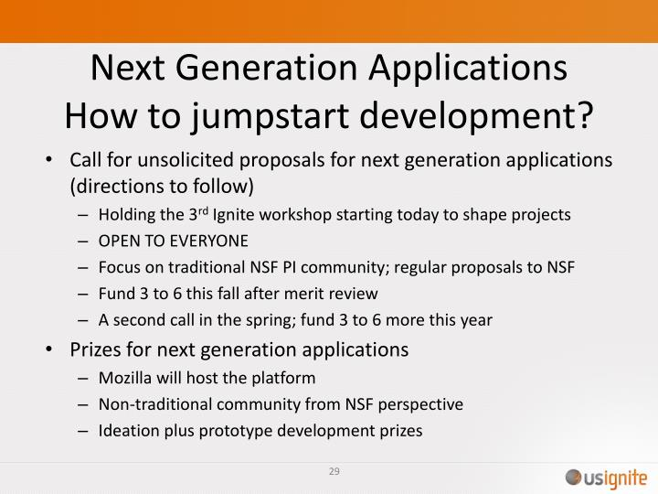 Next Generation Applications