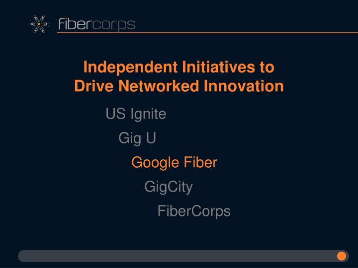 Independent Initiatives to Drive Networked Innovation