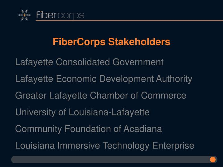 FiberCorps Stakeholders