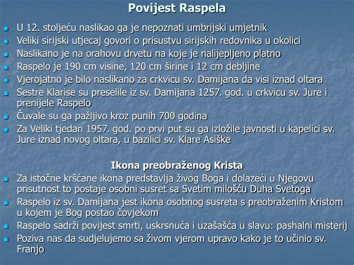 Povijest Raspela
