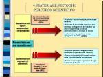 4 materiale metodi e percorso scientifico