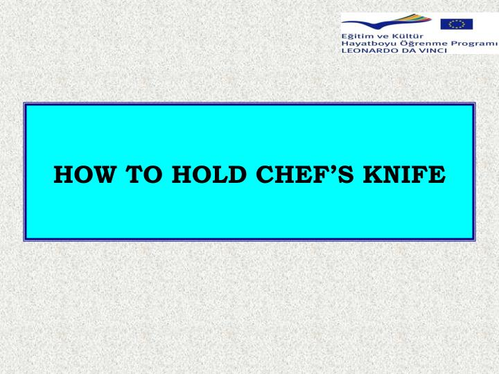 HOW TO HOLD CHEF'S KNIFE
