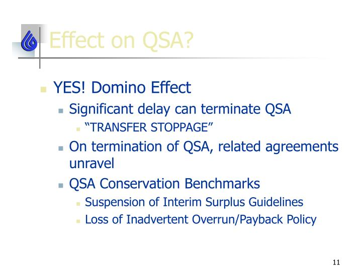 Effect on QSA?