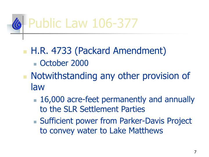 Public Law 106-377