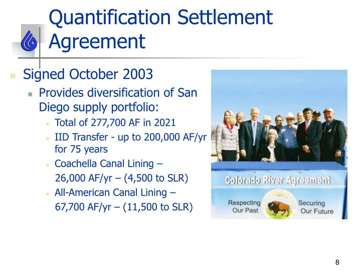 Quantification Settlement Agreement