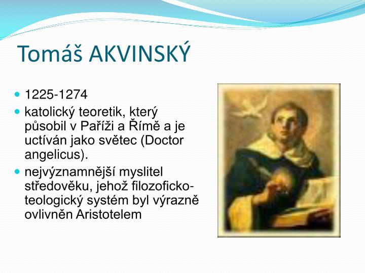 Tomáš AKVINSKÝ