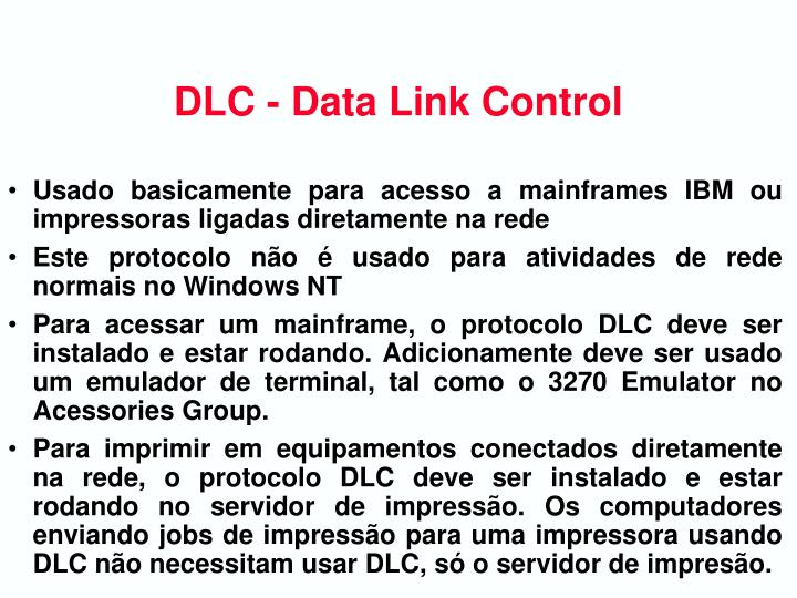 DLC - Data Link Control