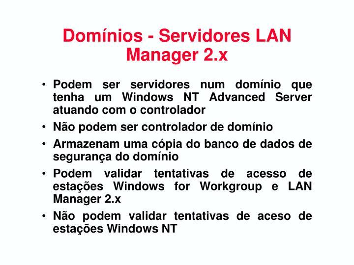 Domínios - Servidores LAN Manager 2.x