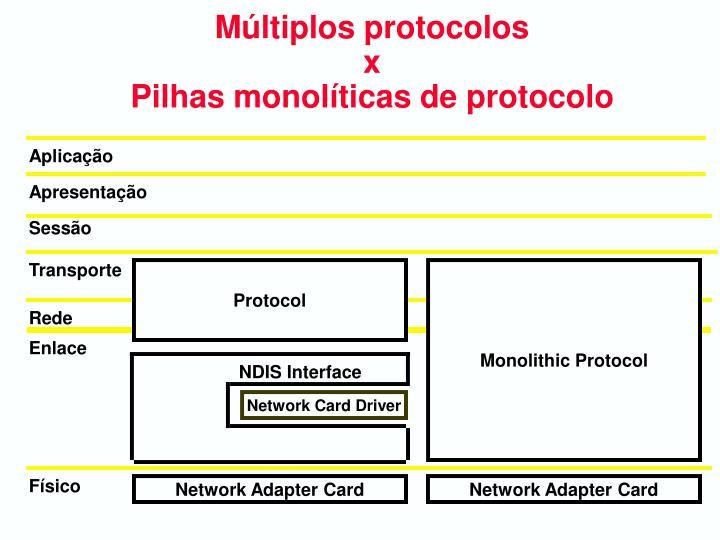 Múltiplos protocolos