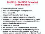 netbeui netbios extended user interface