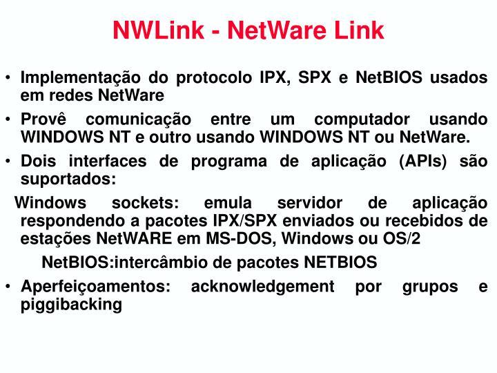 NWLink - NetWare Link